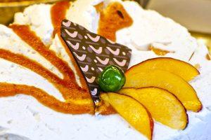 Étel fotó torta gyümölccsel csokoládéval